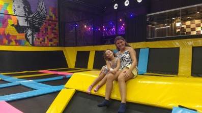 Muitos trampolins