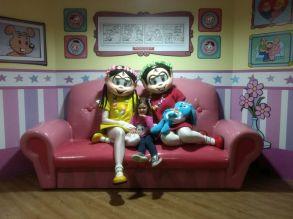 Nanda com Mônica e Magali